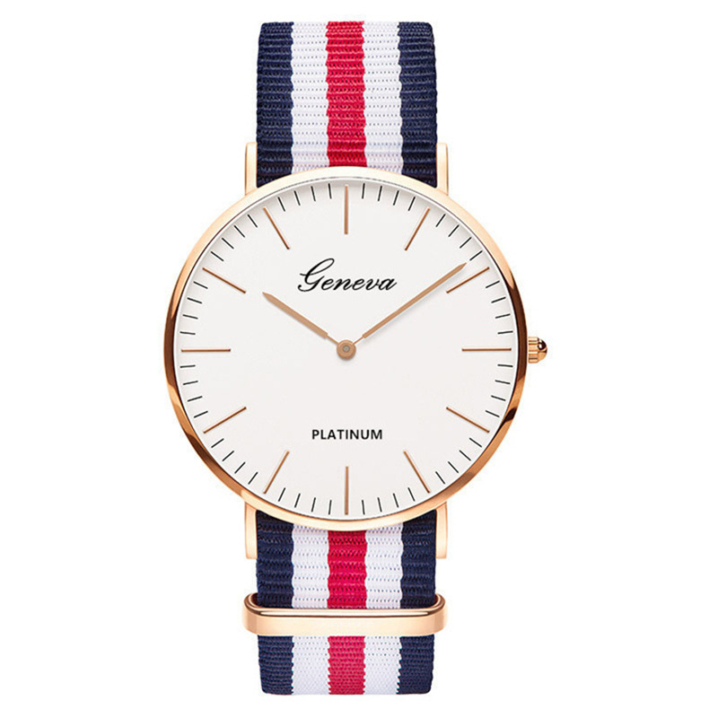 Watches Dress Nylon-Strap Women Simple Brand Quartz Luxury Small Fashion Dial Masculino