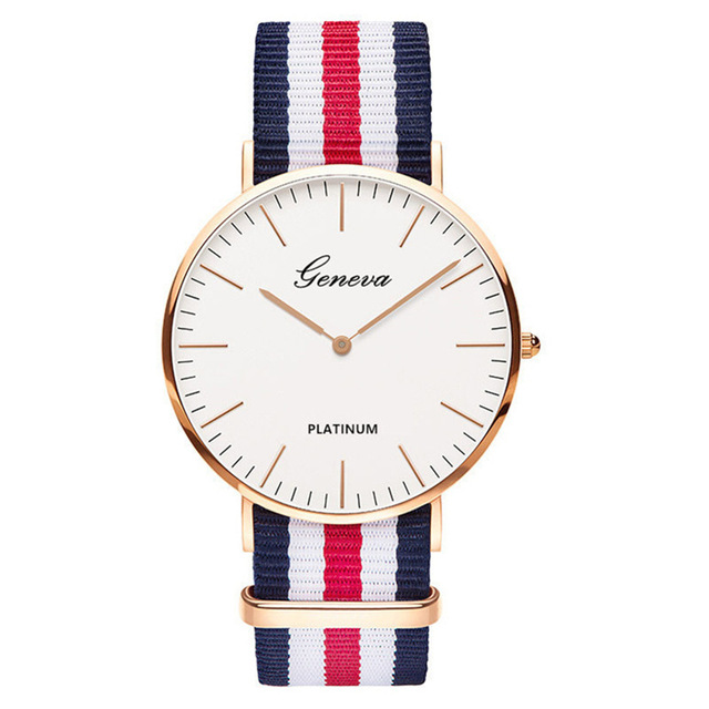Nylon Strap Fashion Women Dress Watches Men Small Dial Quartz Wristwatches Luxur