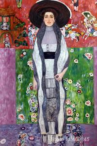 Ручная работа, Женский художественный портрет Адель блох Бауэр II из Густава Климта, картина маслом, Репродукция, парусина, высокое качество