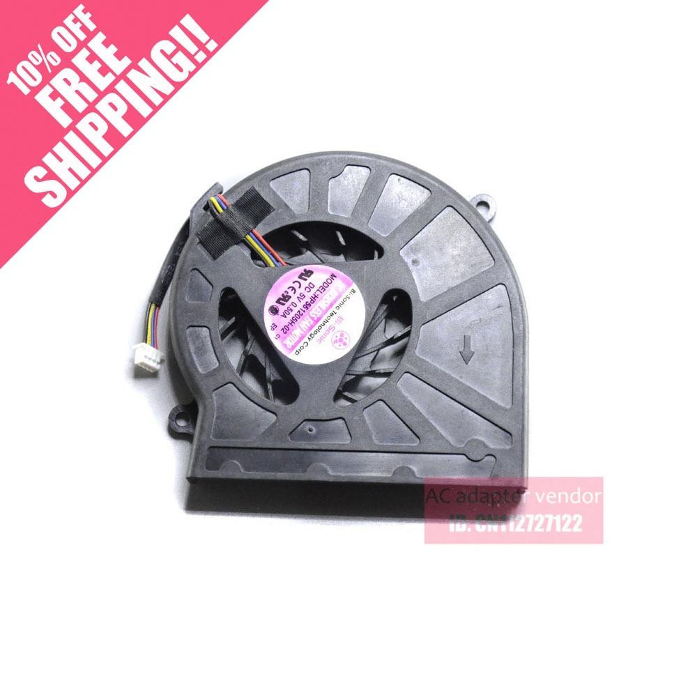 New BI-sonic HP551205H-01 PWM 5V 0.5A HP551205H-02 Laptop Fan
