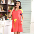 2015 summer style round neck short sleeve casual women's short sleeve modal nightgown, free home delivery
