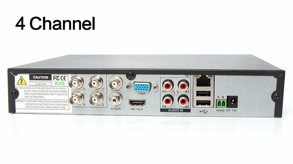 12 4 Channel Hybrid DVR NVR