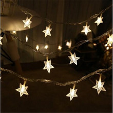 New 5M 28LED star string Fairy Lights for wedding decorations Home indoor christmas tree decoration christmas lights ac220v 5m 28led crystal bubble water drop string fairy lights for wedding party christmas decorations for home outdoor indoor
