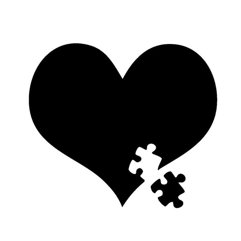 10 5 12CM Autism Awareness Heart Puzzle 4 Fun Car Sticker Decals Motorcycle Stickers Car Styling
