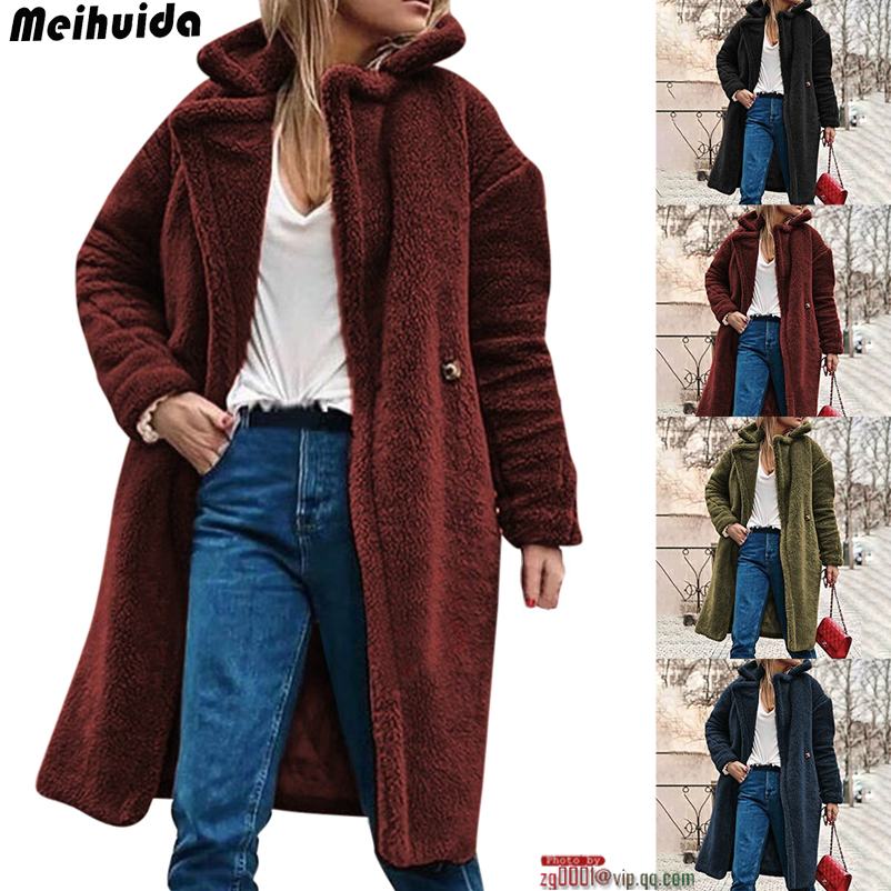 Fashion Women Baggy Cardigan Coat Long Chunky Knitted Oversized Sweater Jumper