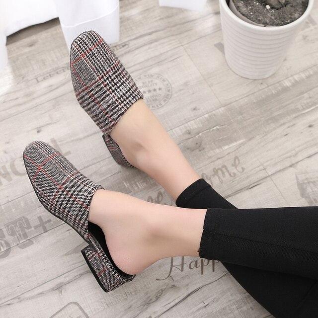 européenne Noir Marque Mules Square Femmes Chaussures Design Retro Toe Blanc 7xFHxpdW