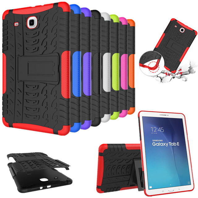 HOT Heavy duty Defender Armor Plastic Case Cover For Samsung Galaxy Tab E 9.6 T560 T561 Tablet Shockproof Case film + stylus