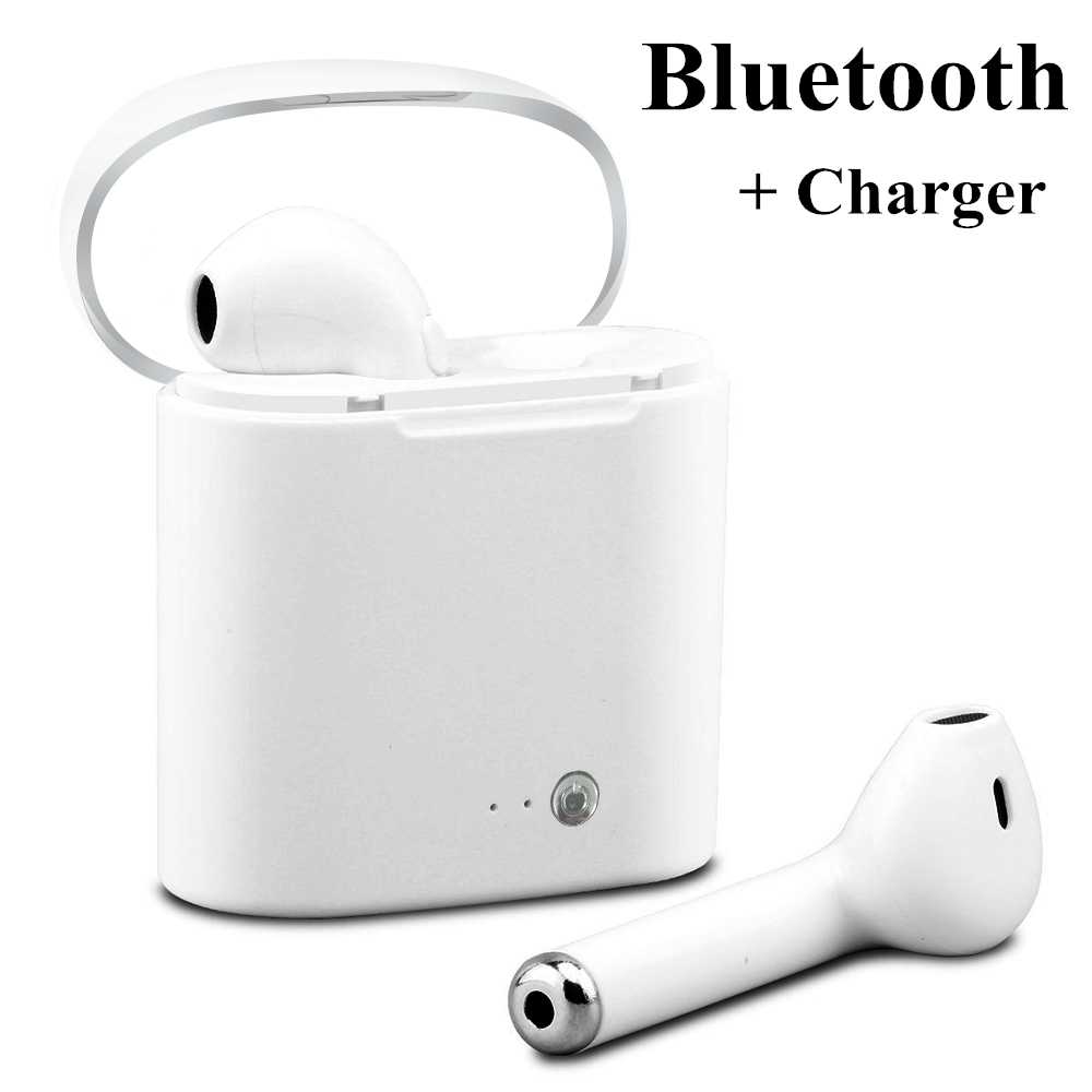V4.1 TWS i7 mini wireless headphones bluetooth earphone with mic 3D stereo headset Charger for xiaomi samsung huawei iphone sony