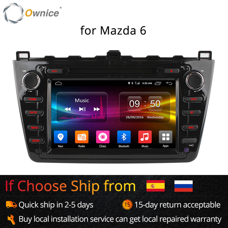 Ownice C500 6 Octa Núcleo Android 6.0 carro dvd gps Para Mazda Ruiyi Ultra 2008 2009 2010 2011 2012 wi-fi 4G 2 Rádio GB RAM BT 32G ROM