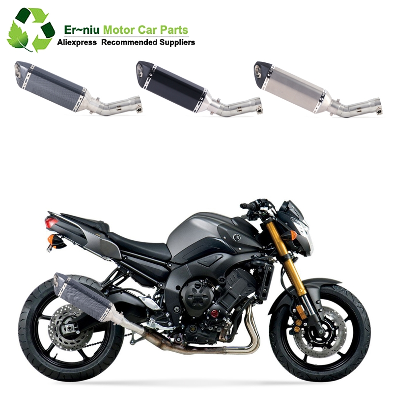 Motorcycle Full Exhaust Muffler System Link Contact Middle Pipe Link Pipe with DB KILLER Slip-On for Yamaha FZ800 FZ8 2011-2013Motorcycle Full Exhaust Muffler System Link Contact Middle Pipe Link Pipe with DB KILLER Slip-On for Yamaha FZ800 FZ8 2011-2013