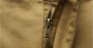Image 5 - חדש 2018 קיץ גברים בבאגי רב כיס צבאי רוכסן מכנסיים קצרים מטען מכנסי זכר ארוך צבא ירוק חאקי Mens טקטי מכנסיים קצרים