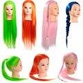 2015 nuevo estilo 27 pulgadas colorido cabeza de maniquí de cabello peluquería con pelo peluquería maniquíes Salon práctica formativa cabeza