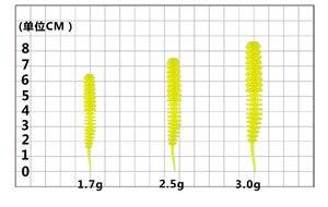 Image 5 - Dance Worm esca morbida esca da pesca 6.5/7.5/8.5cm ago coda dritta esche artificiali Bass mandarino Culter 16 20 pezzi