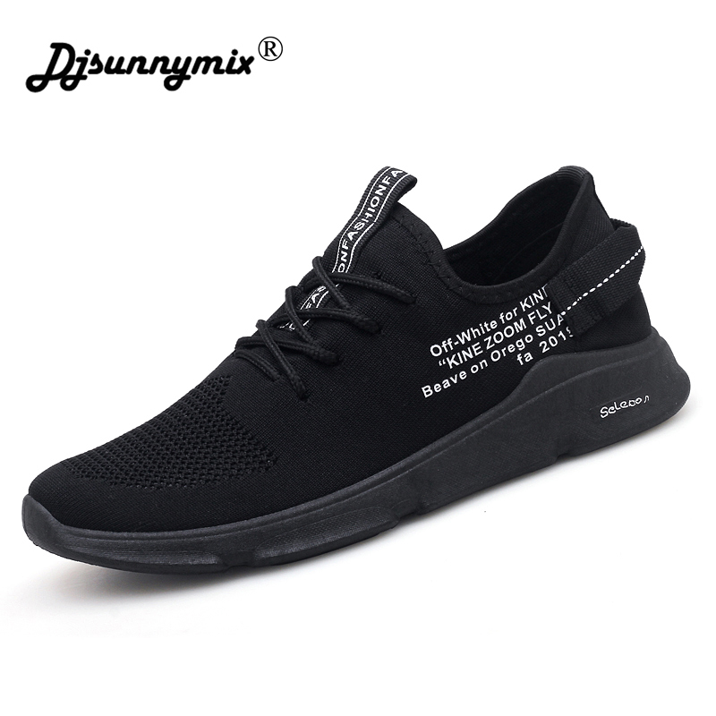 DJSUNNYMIX 2018 Sneakers Breathable Jogging for men sports running Shoes Fly Weave Mens Trainers Walking Sport Gym Shoes Men