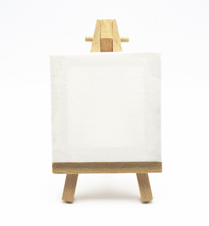 Buy 1set sell mini canvas mini easel set for Where to buy canvas art