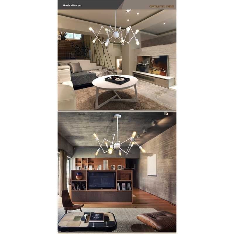 Подвесные светильники lukloy, промышленный подвесной светильник-паук, современный светильник ing, регулируемый Лофт светильник для гостиной