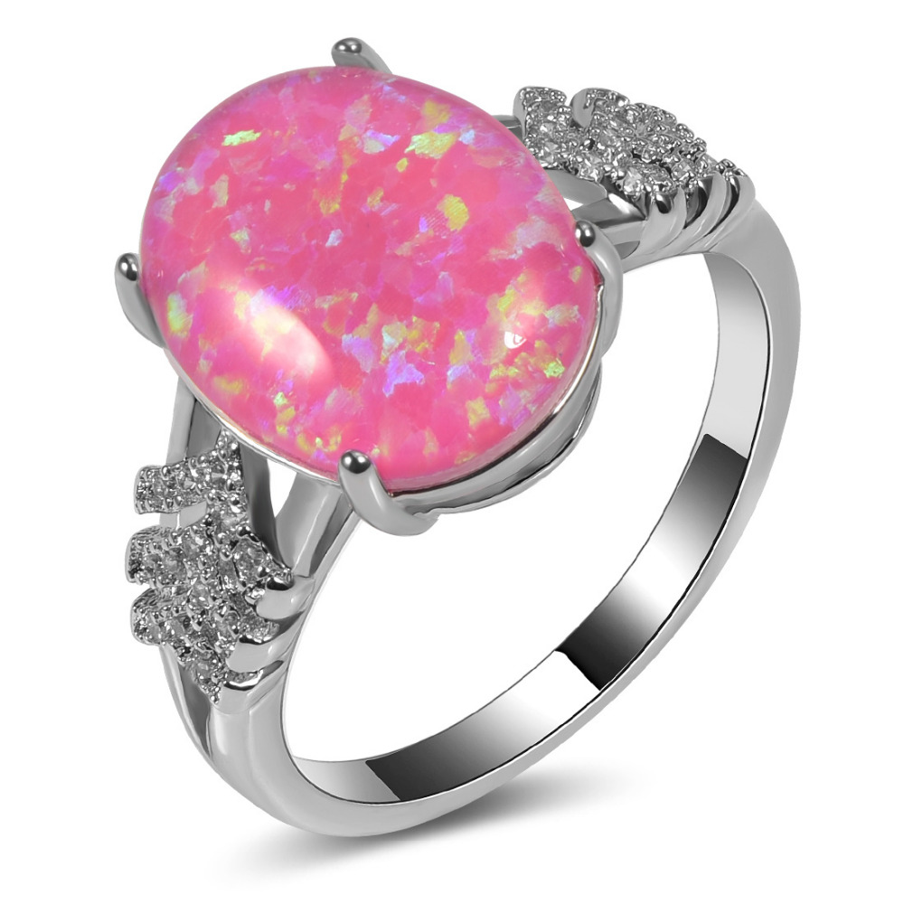 Hot Sale Exquisite Pink Fire Opal 925 Sterling Silver High Quantity ...