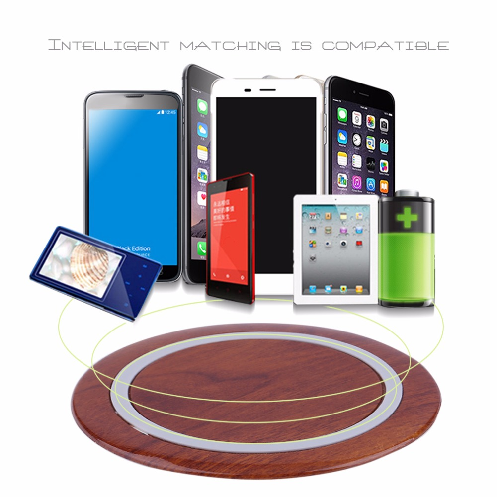 CL-2008 Super Thin Table Desk Universal Wireless Charger Charging Pad Wireless Charger Adapter For Xiaomi For Android For IOS