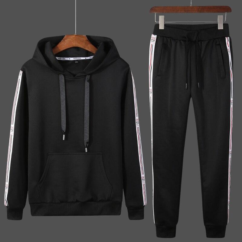 Spring Autumn Hoodie Sweater Jacket + Joggers Sweatpants Man Suits Sportwear Tracksuit Trainingspak Survetement Hoodies Set