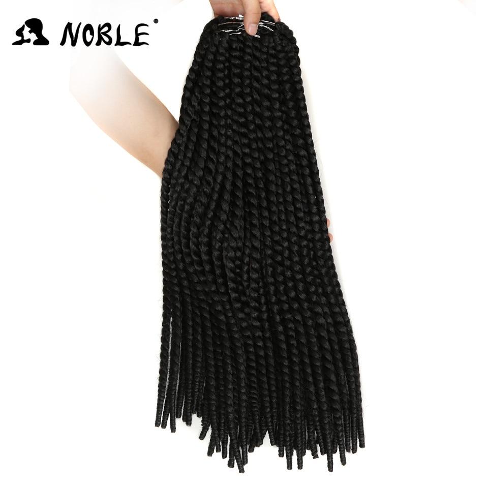 Noble Black Crochet Hair 9 Strands Crochet Braid Havana Twist Hair Long 22 Inch High Temperature Synthetic Braiding Hair 85G