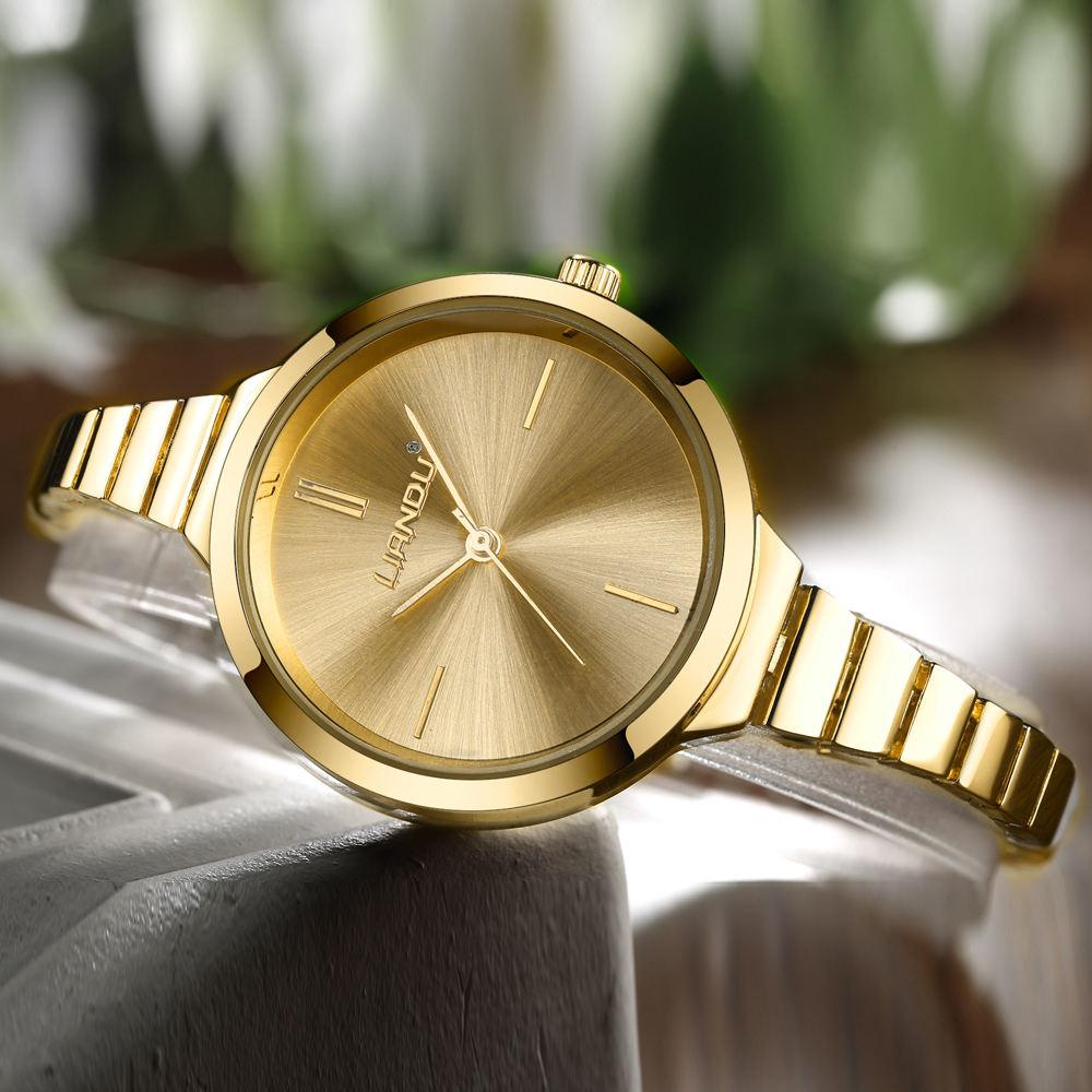 LIANDU Diamond Gold Women Watches Luxury High Quality Montre Femme Dress Woman Clock Female Quartz Ladies Wristwatch set in Women 39 s Watches from Watches