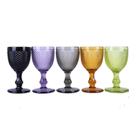 Pineapple Style Wine Goblet Drinking Glass 4 Color FG