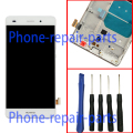White Full LCD Display+Touch Screen Digitizer +Frame Cover Assembly For Huawei P8 Lite ALE-L04 L21 TL00 L23 CL00 L02 UL00 +Tools