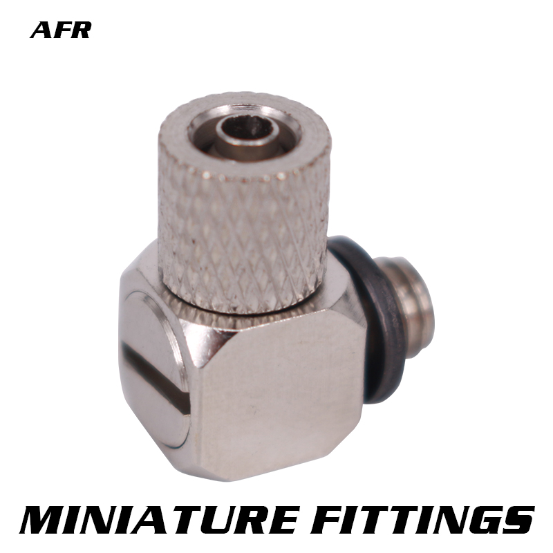 Miniature Fittings M-4HL-4 M-4HL-6 PL Male Thread M4 - Tube 4mm 6mm Elbow Pneumatic Pipe Air Hose Quick Fitting Mini Connecto