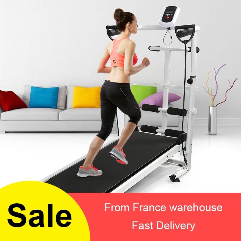 2020 New Mechanical Treadmill Mini Folding  Running Training Fitness Treadmill Home Sports Fitness Gym Equipment HWC