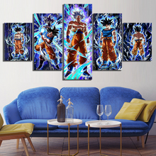 Canvas Painting Prints Wall Art Modular Pictures 5 Panel Goku Son Ultra Instinct Dragon Ball Z Video Game Poster Home Deco Frame