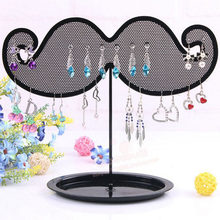 Top Sale European Black Beard Iron Jewelry Rack Earrings Necklace Storage Rack Jewelry Display Props Pendant Jewellery Organizer(China)