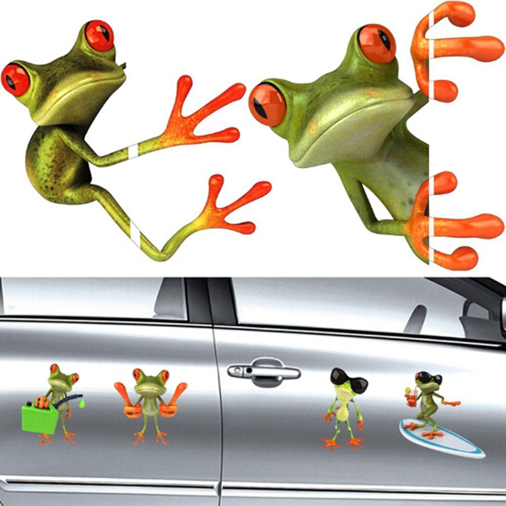 SEKINNEW 3D Cute Peep Funny Frogs Car Stickers Truck Window Vinyl Decal Graphics Sticker Fun Cartoon Car Stickers
