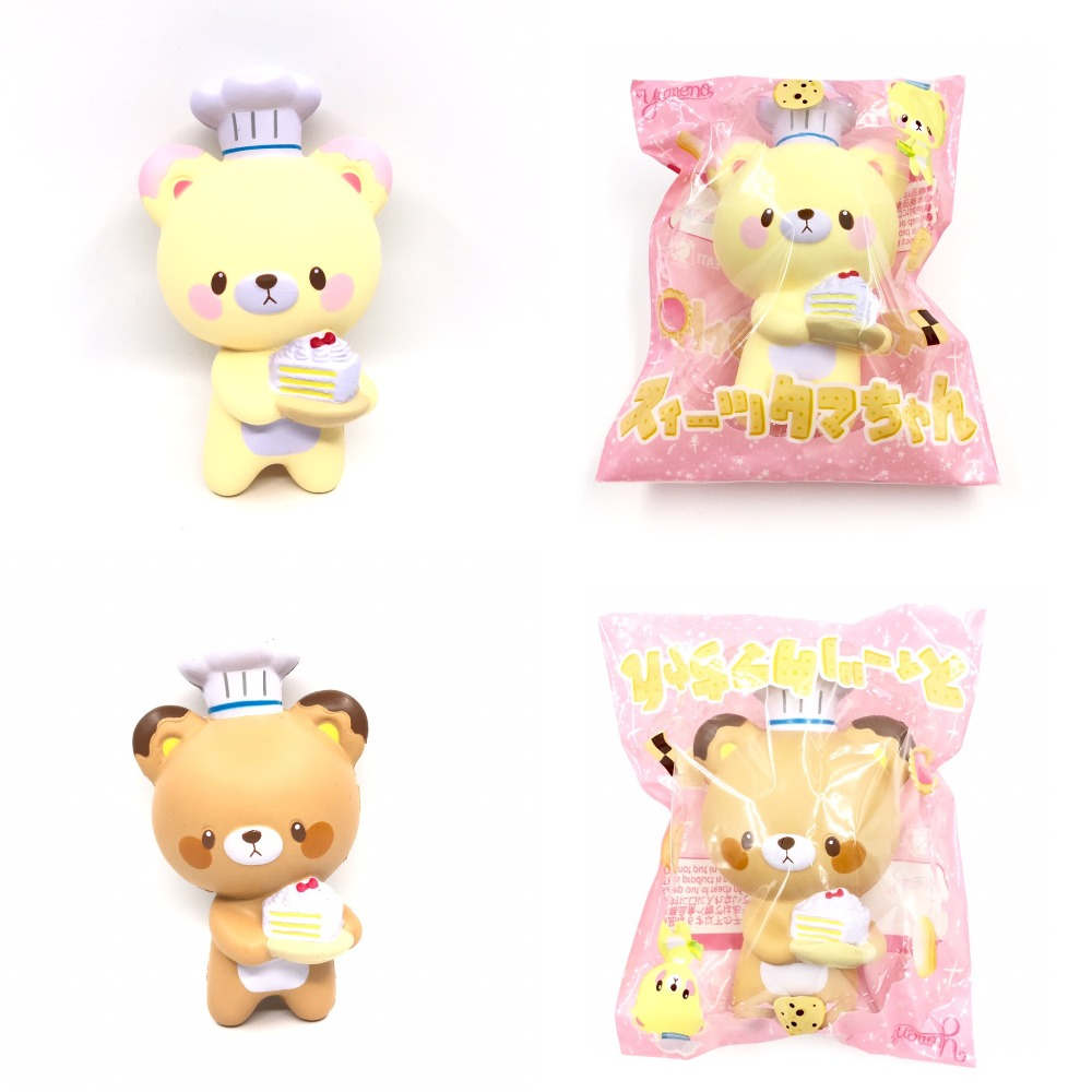 Original Japan Yumeno Cooking Bear Squishy Soft And Slow Rising Squishy Toys Squishy Scented Cake Bread Kids Toys