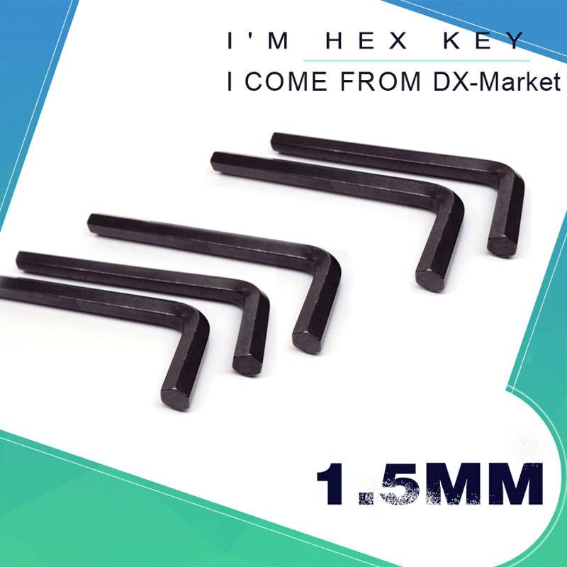 1,5 mm šešiabriaunis raktas, 100 vnt, DIN911 šešiabriaunis raktas, šešiabriauniai rankiniai įrankiai, m1.5 juodinimas, Kinijos tvirtinimo detalės Gamintojas