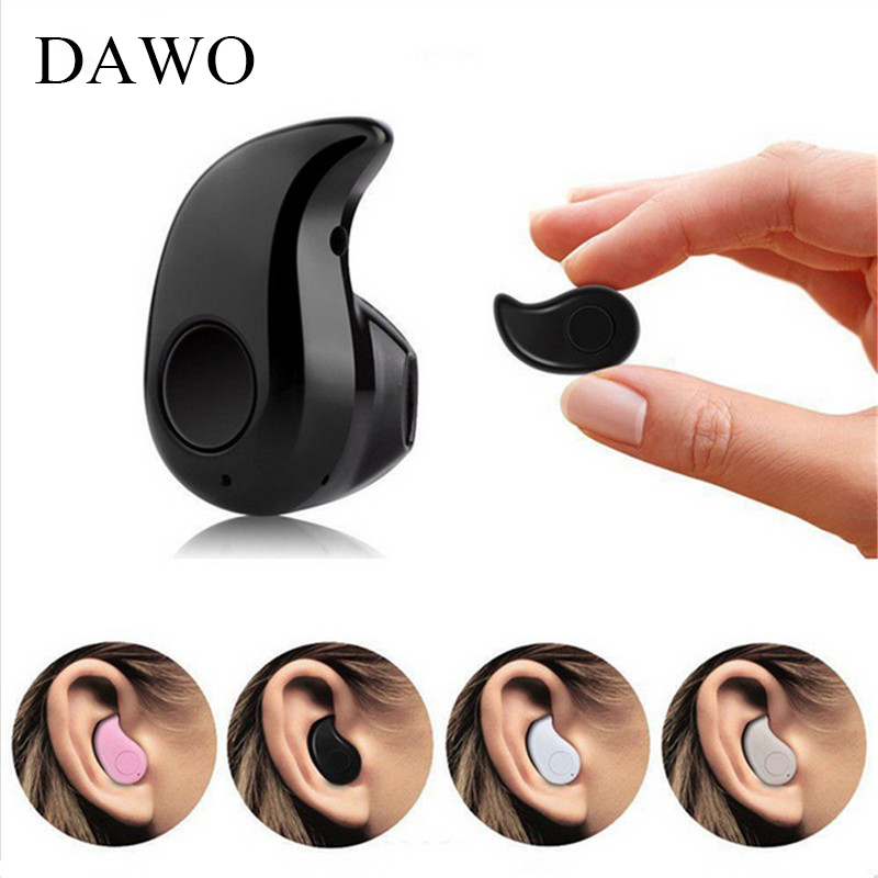 DAWO Mini Sport Wireless Bluetooth Earphone Bluetooth 4.1 Built-in Microphone Noise Cancelling IN-Ear For iPhone Android PK S530 ideausa v205 neckband in ear earphone sweatproof active noise cancelling wireless bluetooth headphone for sports built in mic