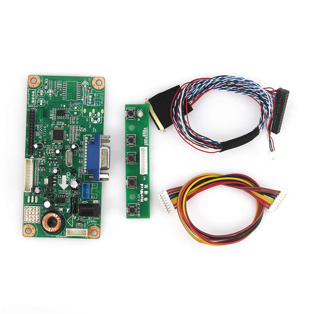 M.RT2270 LCD/LED Controller Driver Board(VGA) For LP156WH4(TL)(A1)/(TL)(N1)  LVDS Monitor Reuse Laptop 1366x768