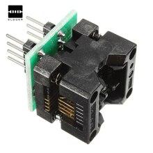Programmer 8 SOP8 a DIP8 EZ módulo convertidor de enchufe programador salida adaptador de corriente con conector 150mil SOIC 8 SOP 8 a DIP 8