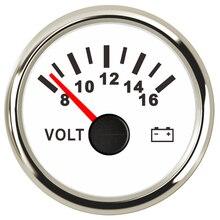 52mm Universal  Car Voltmeter Motor Volt Gauge 8~16V  for Boat Motorcycle Car Voltmeter Gauge 12v 24v Volts