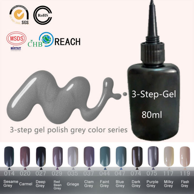 80ml Unhas de Gel Profissional Gel UV Color Gray Gel Varnish Connie Blinkingel Len Colored Gels Cody Nail Primer Nude Manicure