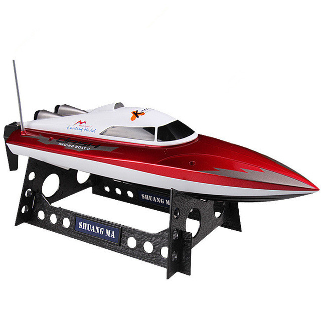 2016 HOT sell RC Boat DH-7009 2.4g 4ch double Motor High Speed racing boat Max 30KM/h Radio Control Electronic Ship Model Toys high quality high speed rc boat 13000 6ch mini radio control simulation series rc nuclear racing submarine model kids best gifts