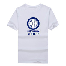 2017 Upton Funk You Up San Diego Padres T-Shirt 100% Cotton T shirt 1220-5 asia size