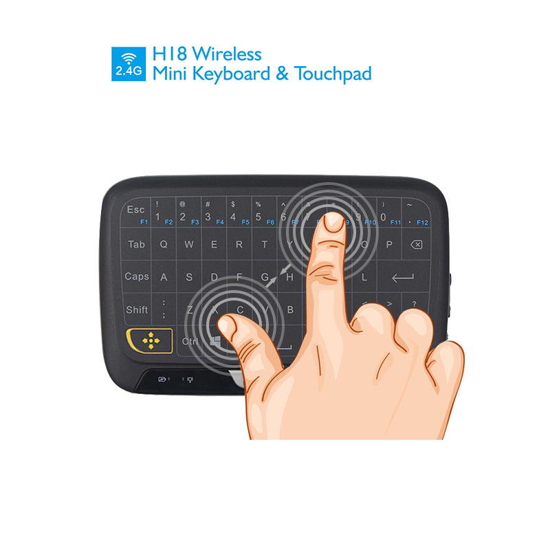 2 4Ghz Wireless Remote Controller Mini Keyboard Large Touch Pad for Android TV Box Laptop PC