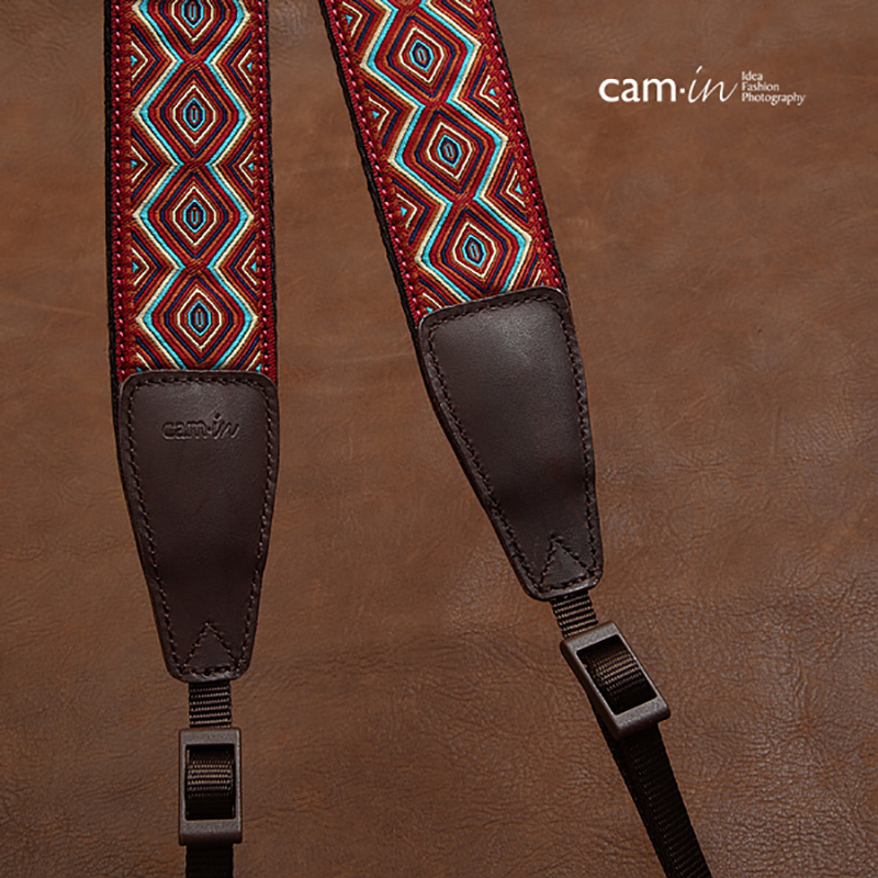 Image 5 - cam in CAM7416 embroidery webbing Cow Leather Universal Camera Strap Neck Shoulder Belt General Adjustable Lanyard-in Camera Strap from Consumer Electronics