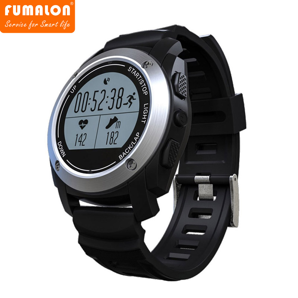 FUMALON S928 GPS Sport Smart Band Heart Rate Height Race Speed Outdoor GPS Trajectory Fitness Tracker