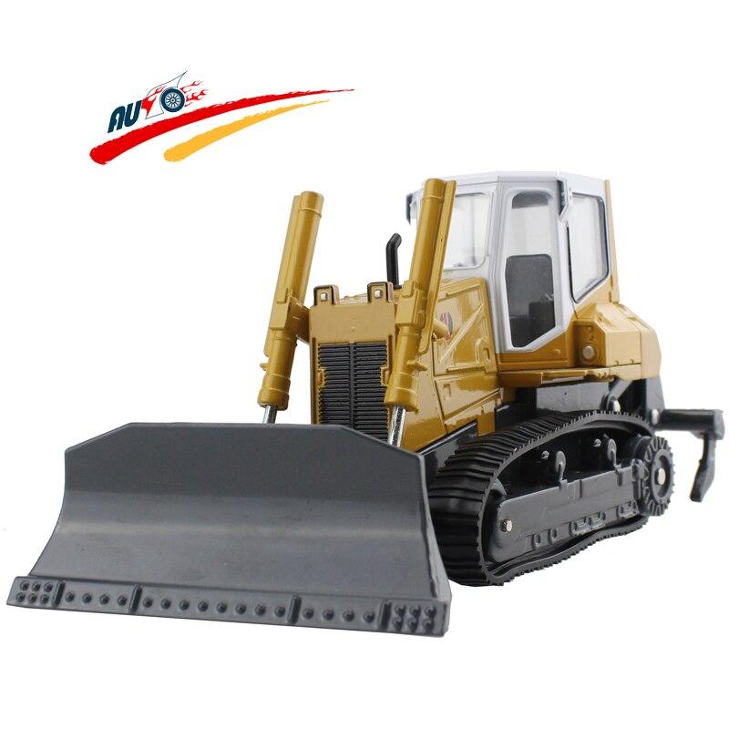 Liga diecast pá bulldozer rastreador & cultivador caminhão com ancinho modelo coleção brinquedos para crianças presente de natal brinquedos