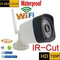 Câmera ip 720 p HD wifi sistema de segurança cctv à prova d' água sem fio infravermelho mini Camara Onvif Visão Nocturna do IR à prova de intempéries ao ar livre