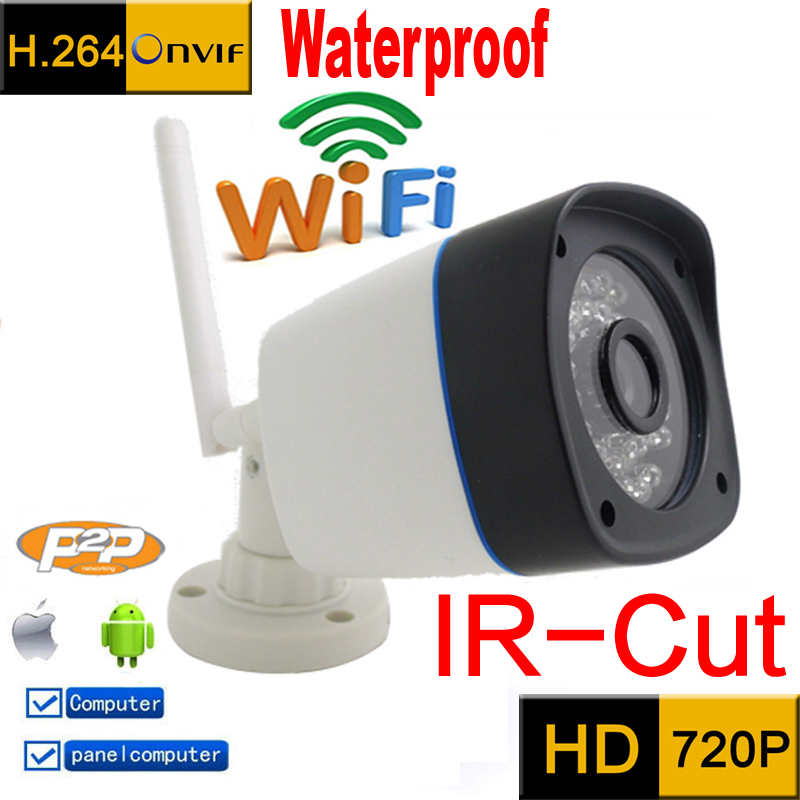 ip camera 720p HD wifi cctv security system waterproof wireless weatherproof outdoor infrared mini Onvif  IR Night Vision Camara ip camera wifi 720p onvif wireless camara video surveillance hd ir cut night vision mini outdoor security camera cctv system