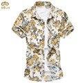Estupendo 7xl 6xl 10 color de gran tamaño floral chemise homme camisa masculina de algodón de manga corta marca clothing hombres camisas 2017 nueva