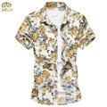 Super Large Size Floral Chemise Homme 7XL 6XL 10Color Short Sleeve Cotton Camisa Masculina Brand Clothing Men Shirts 2017 New