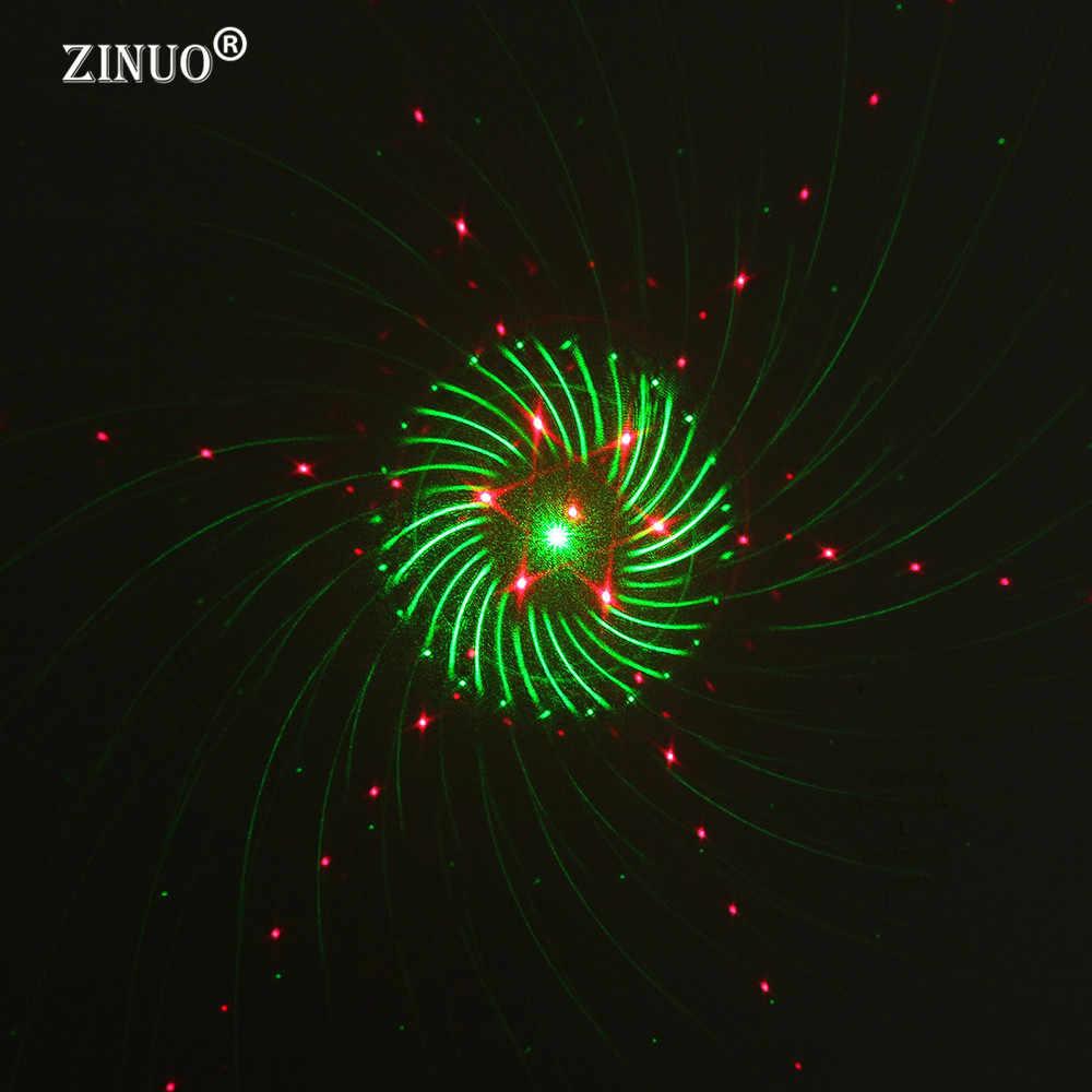 מקרן אור כוכב לייזר ZINUO מקלחות חג מולד גן נוף תאורה עמיד למים חיצוני אדום ירוק גלקסי אור לייזר DMX